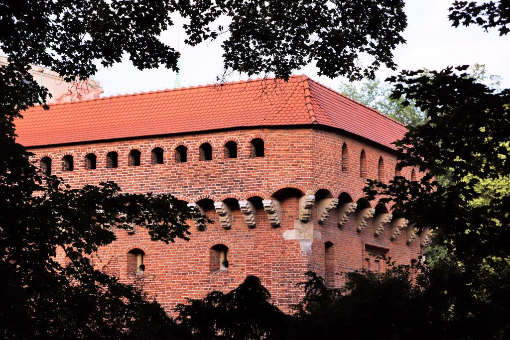 Fortification la Barbacane Cracovie Pologne