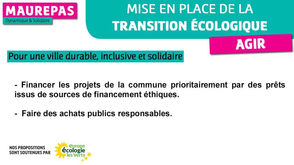 AGIR : Mise en place de la transition écologique