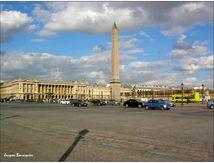 Obélix à Paris, place de la Concorde