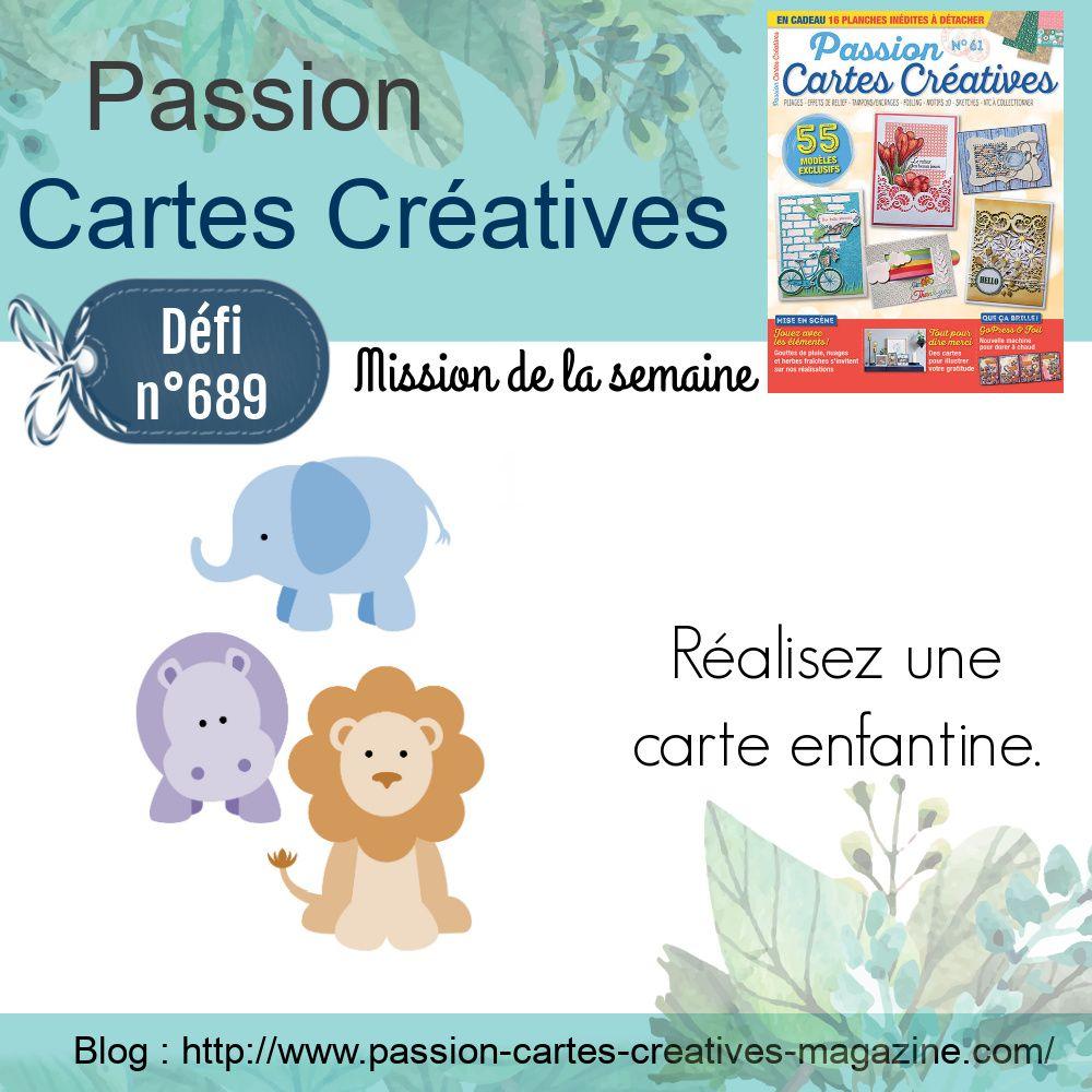 Défi 689 de Passion Cartes Créatives
