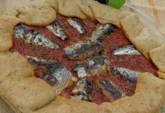 tarte rustique aux sardines