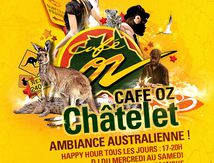 Artwork Affiches Flyers Café Oz