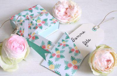 boîte et carte pour la fête des mères {printables}