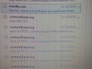 Séries Alertes pollution Airpl 2012 2013 2014 2015