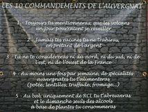 Les 10 commandements de l'auvergnat ...