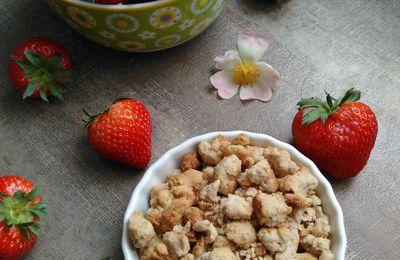 Crumble à la confiture de fraises
