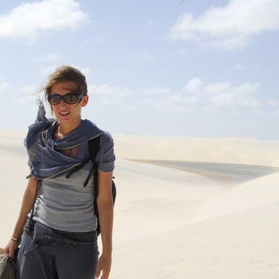 L'épreuve : trek dans les dunes