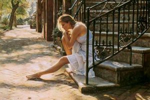 Steve Hanks plays with Light