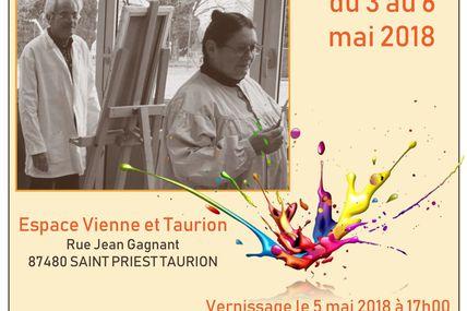 Exposition des arts graphiques et plastiques à Saint Priest Taurion du 3 au 6 mai 2018