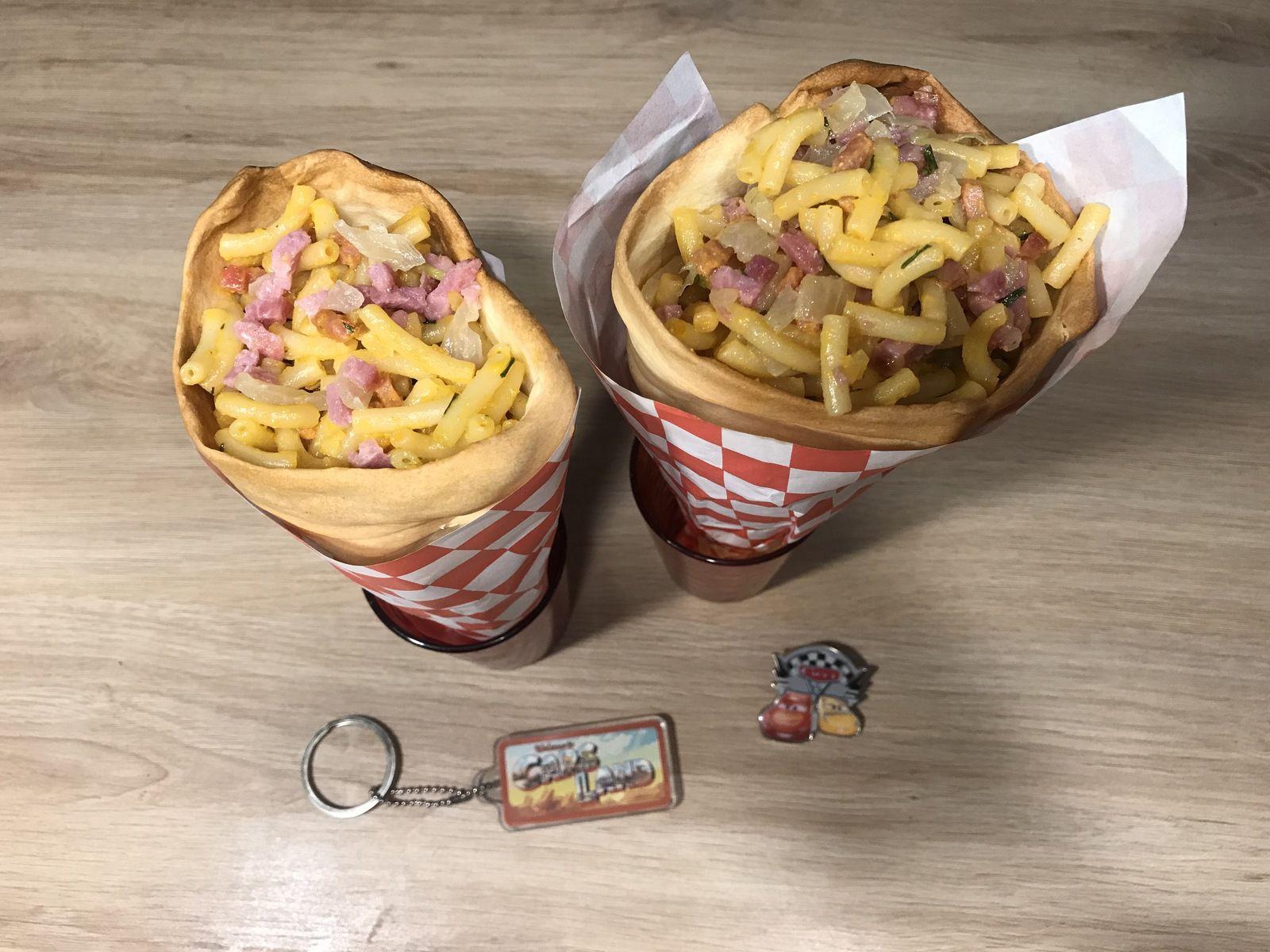 Recette Disney : le cône Mac and Cheese de Cars Land au parc Disney California Adventure