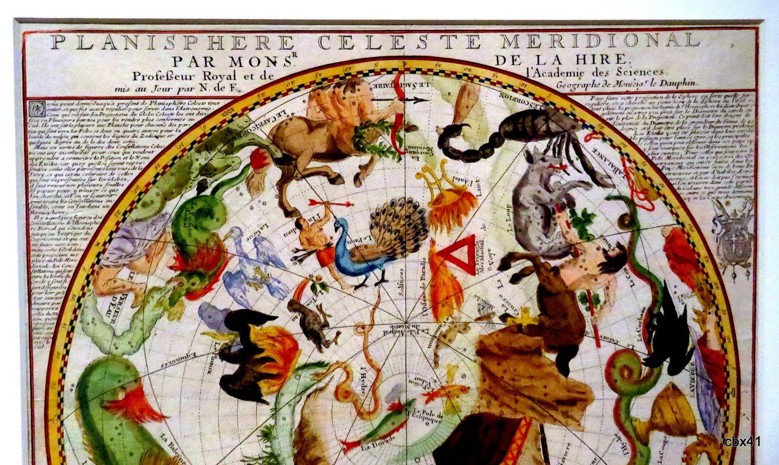 Planisphère céleste méridional (Philippe de Lahire et Nicolas De Fer)