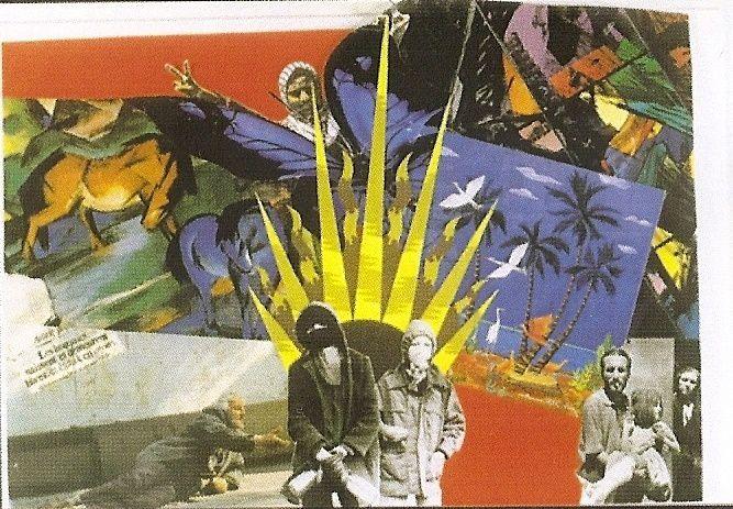 Collages réalisés par Joëlle Aubron, militante d'Action directe