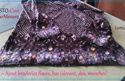 Broderie : fleurs sss pour bas de tunique.