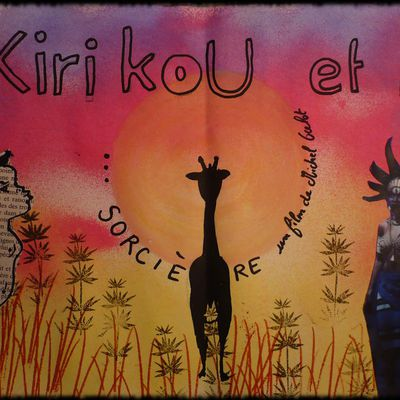 Kirikou et la sorcière Michel Ocelot en mixed media