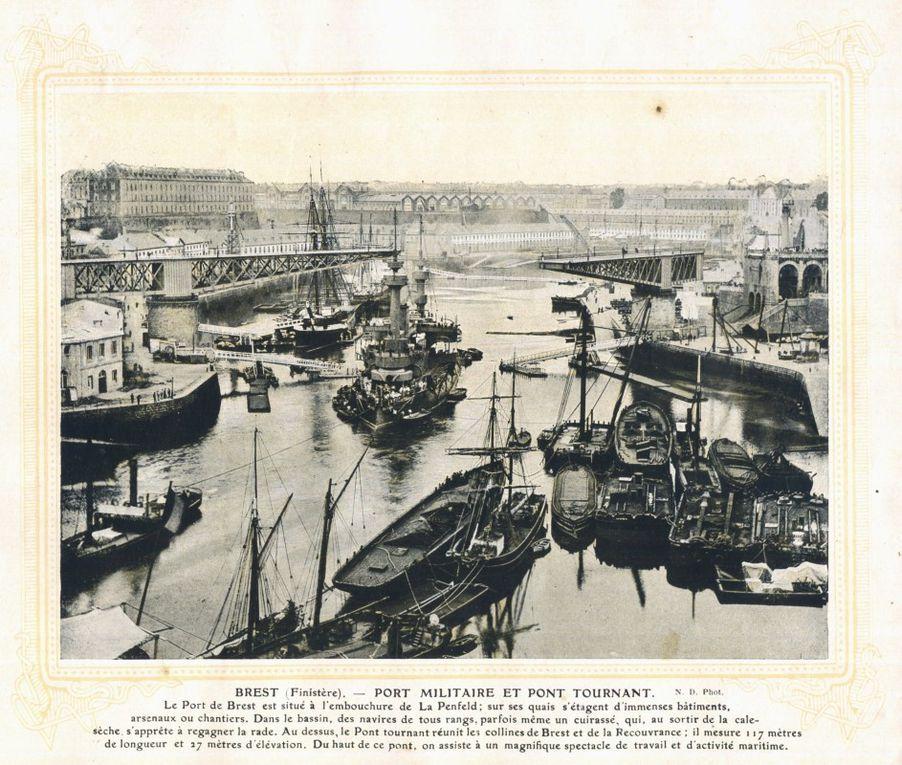 Un complexe portuaire hallucinant, des gens partout, des bâtiments de toute sorte. Brest, ravagé depuis.