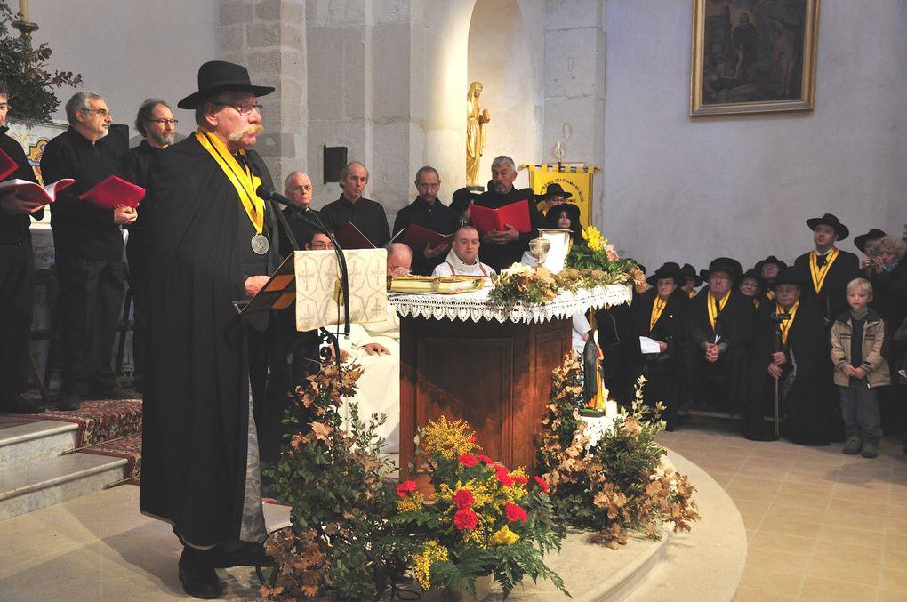 Richerenches 2012, messe traditionnelle pour la Saint Antoine, patron des trufficulteurs. Photos : Pellet Jean-Marc.