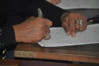 Atelier d'écriture avec notre ursidé Christian Rome