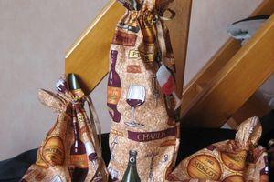 Pochette bouteille cadeau en tissu