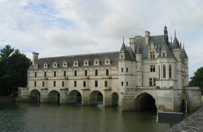 Jardin de Diane de Poitiers et vues sur le château de Chenonceau