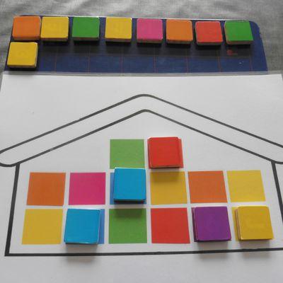 La maison des couleurs (jeu fait maison)