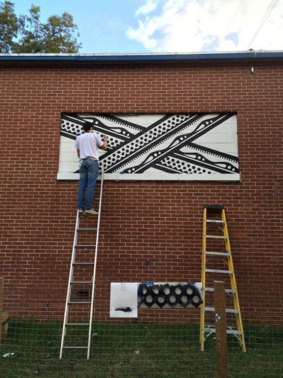 ... ainsi que l'exposition temporaire consacrée à un jeune artiste d'Atlanta, Mac Stewart. Un talent certain, à mon goût...