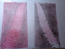 Monotypes sur papier japon