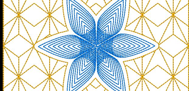 Rosace quiltée (15cm x15cm)