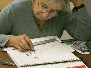 Atelier dessin, préparation téléthon