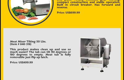 User-friendly Meat Processing Equipment