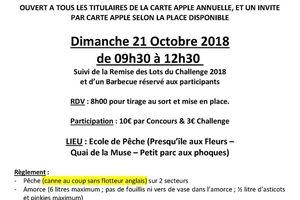 Prochain concours - Dimanche 21 Octobre 2018