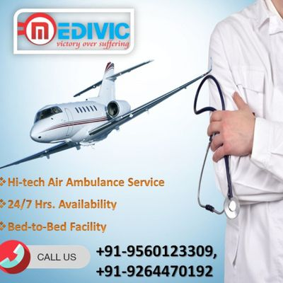 Get Medivic Aviation Air Ambulance 24/7 Hours Service in Mumbai
