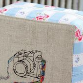 Easy Zippered Box Pouch Tutorial ~