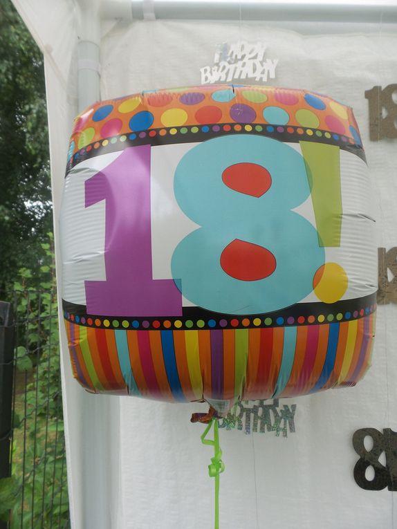 Menu anniversaire 18 ans hugo