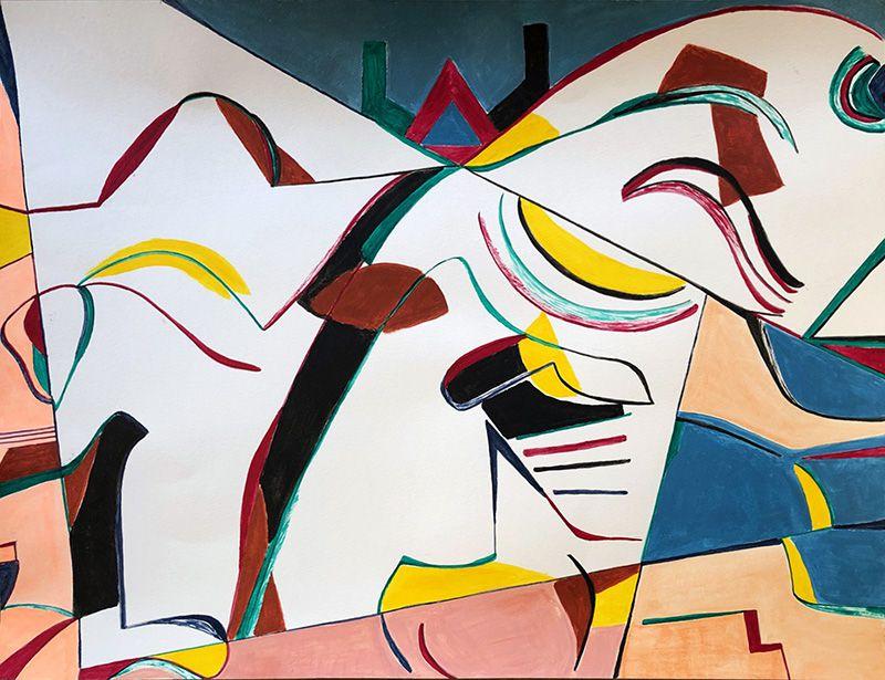 Magda Rebutato - Point 14 de la peinture en neuf mois