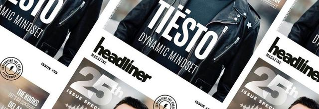 Tiësto cover and interview for the Headliner Magazine