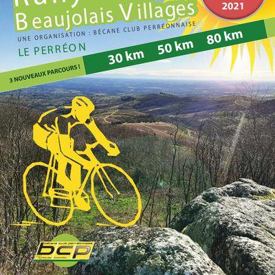 39ème Rallye des Beaujolais Villages le 29 Aout 2021