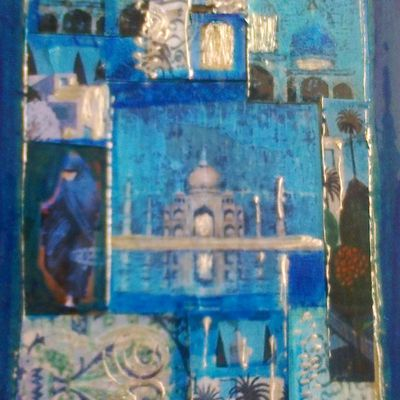 cartes postales (collage sur carton)
