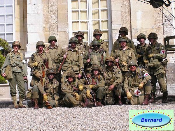 reconstitution militaireen Normandie