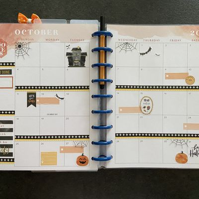 Plan with Me: Classic happy planner_ Vue mensuel Octobre
