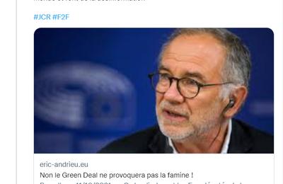Stratégie «de la ferme à la table» («farm to fork»): les gros mots sont de sortie chez l'eurodéputé Éric Andrieu