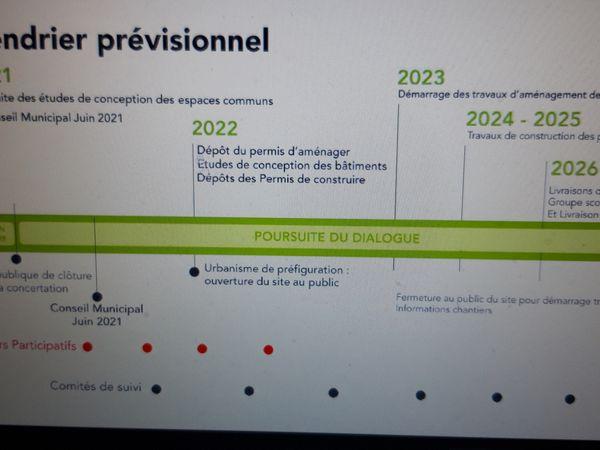 Projet Ordener-Poissonniers : captures d'écran de la présentation du 31 mars 2021