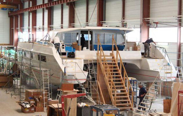 Photo reportage - visite de l'usine de voiliers catamarans Nautitech (17)