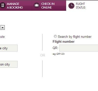 How to check Qatar airways PNR status?
