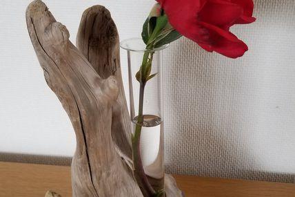 Soliflore racine de bois flotté