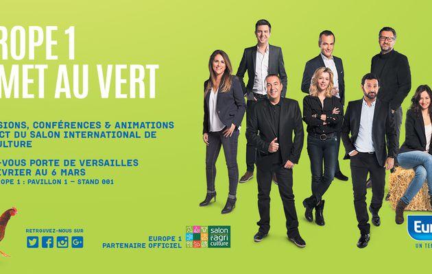 Europe 1 s'installe au Salon de l'Agriculture du 27 février au 6 mars (Le programme)