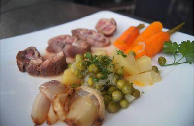 Rognon de veau et sa printanière de légumes
