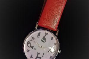 Montre Chat  Quartz