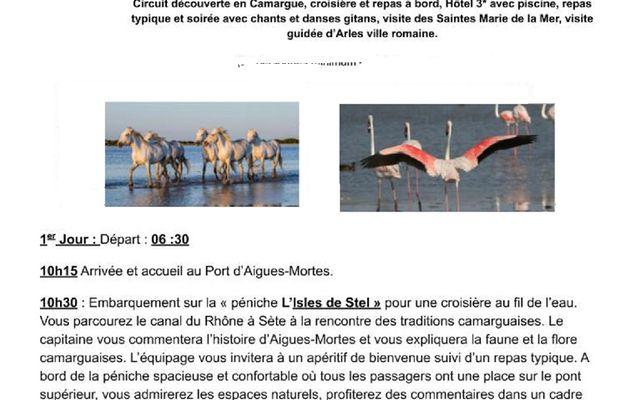 Report de l'escapade en Camargue au 3 et 4 Octobre 2020