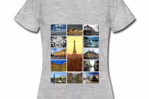 T shirt France villes françaises en polaroids FGC