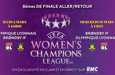 Olympique Lyonnais / Brondby IF (UEFA Women's Champions League) en direct et en clair
